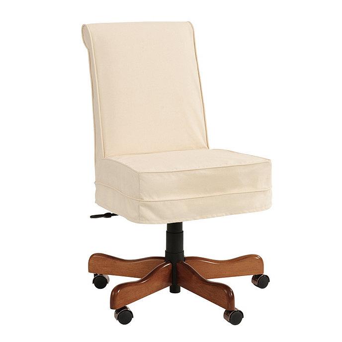 covington desk chair slipcover ballard designs