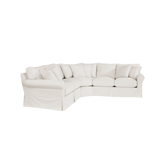 Baldwin 3 Piece Loveseat Wedge Sectional Slipcover
