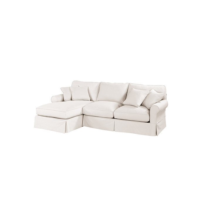 Baldwin 2 piece sectional with left arm chaise slipcover for Separate sectional sofa pieces