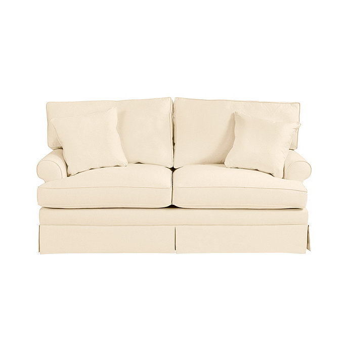 Davenport upholstered apartment sofa ballard designs for Ballard designs sectional sofa