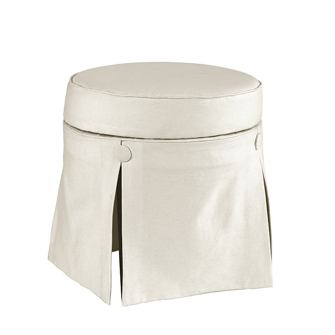 Ballard Design Bathroom Vanity : Evie vanity stool