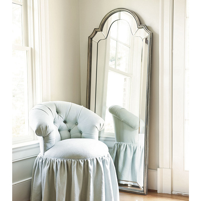 Bella leaner mirror ballard designs for Leaning wall mirror