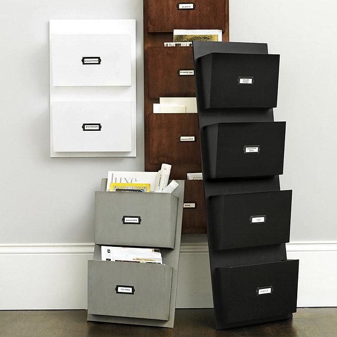 Wall Storage Office: Wood Wall Pocket