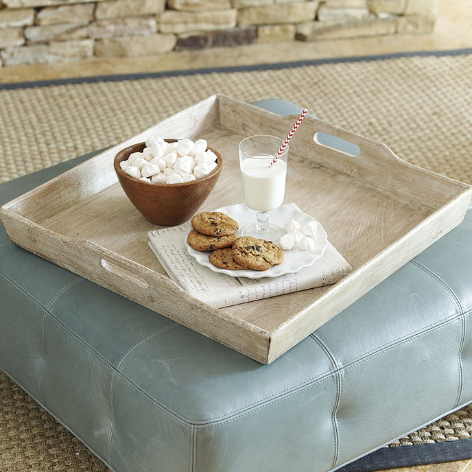 Ansley Planked Ottoman Tray