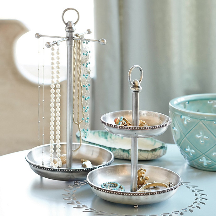 Jewellery Stand Designs : Sophia jewelry dish necklace stand ballard designs