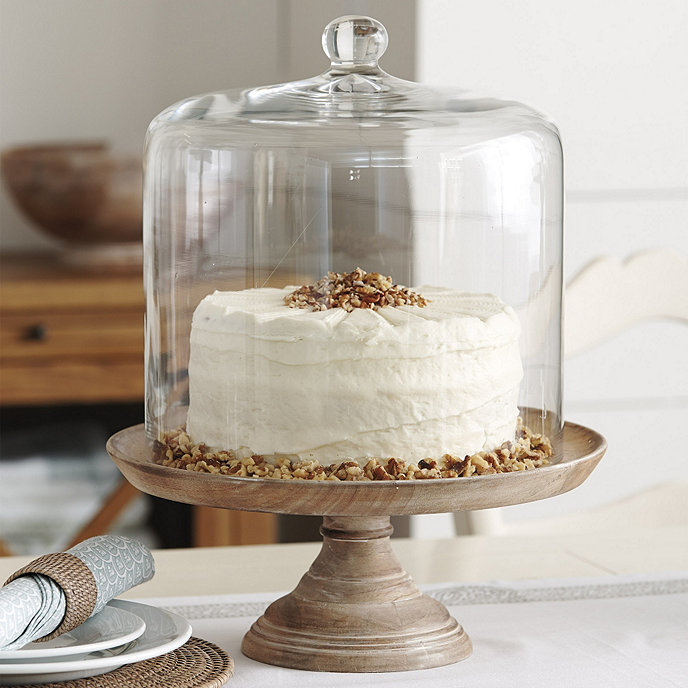 Tall Glass Cake Stand And Dome