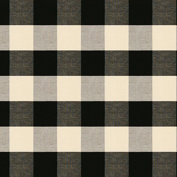 Buffalo Check Black Fabric By The Yard Ballard Designs