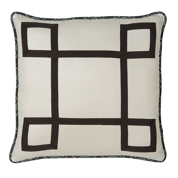 Small Square Decorative Pillows : Camille Toile Square Decorative Pillow