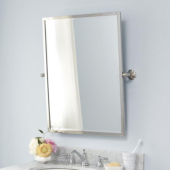 Laurens pivot bath mirror ballard designs for Pivot mirrors for bathroom