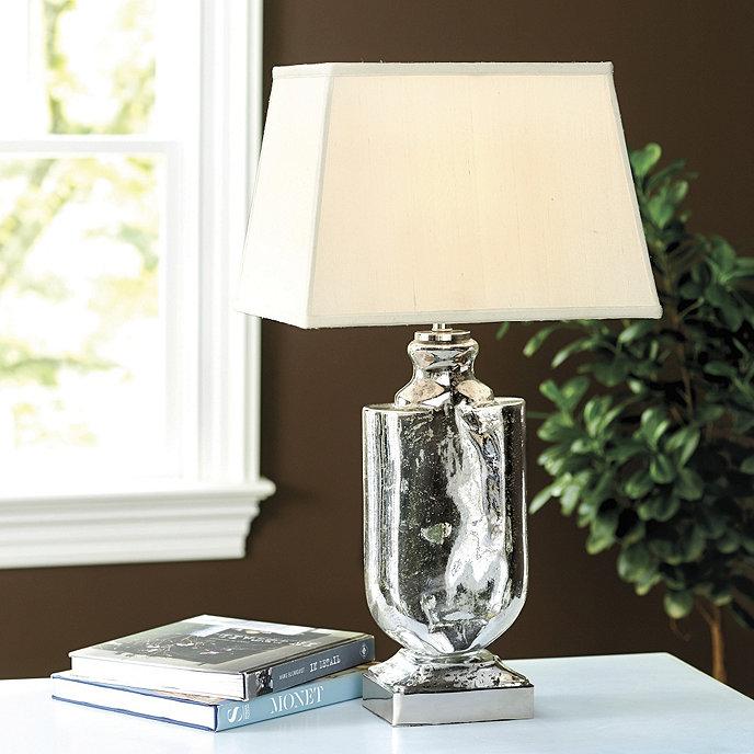 Ballard Designs Table Lamps malia seeded glass table lamp Simone Table Lamp With Rectangular Shade