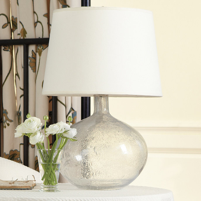 Ballard Designs Table Lamps blue white round table lamp Malia Seeded Glass Table Lamp
