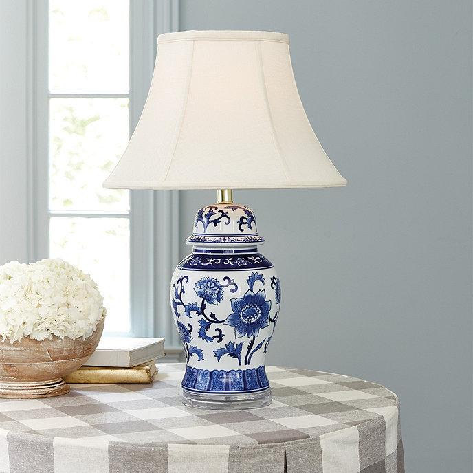 blue white ginger jar lamp ballard designs. Black Bedroom Furniture Sets. Home Design Ideas
