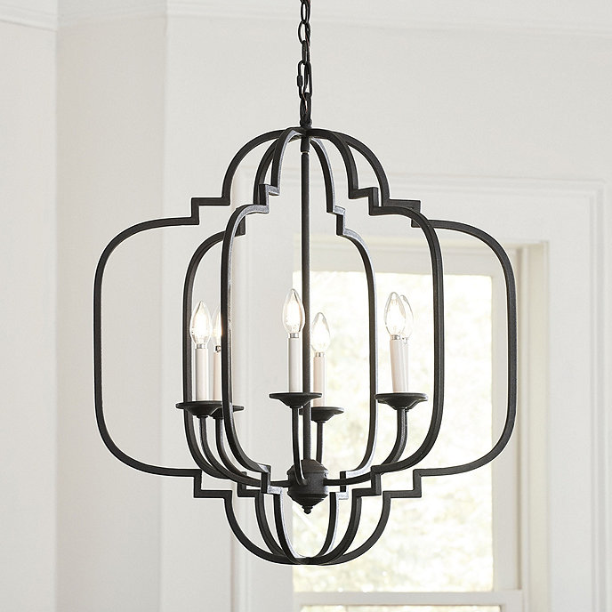 Ballards Lighting: Katherine 6-Light Geometric Chandelier