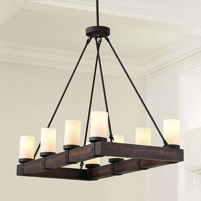 Rectangular Wrought Iron Chandelier Pictures Of Dining: Light Rectangular Chandelier