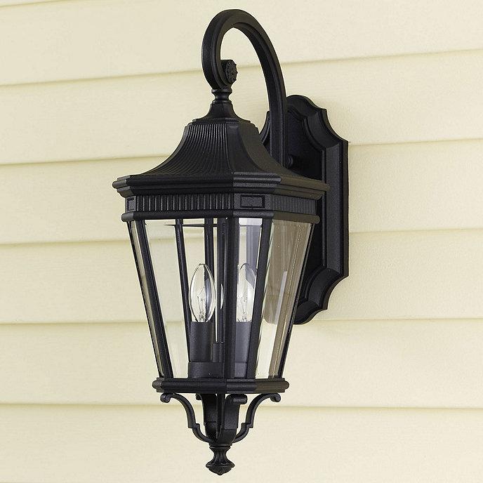 wilshire 2 light outdoor lantern two light aluminum. Black Bedroom Furniture Sets. Home Design Ideas