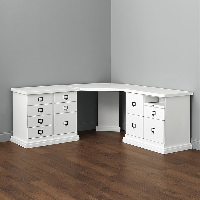 Original Home Office™ Corner Desk With Two 2-Cabinet