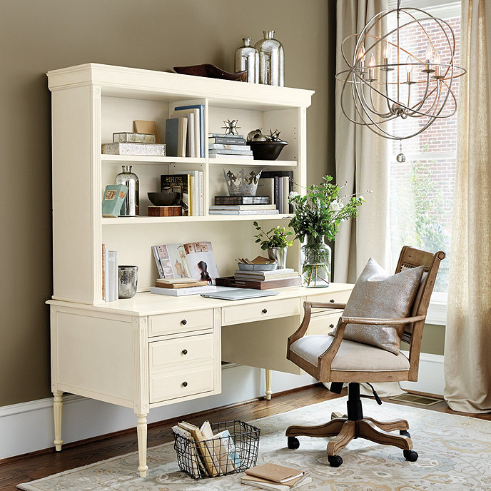 Verona desk with hutch ballard designs - Ballard design home office ...