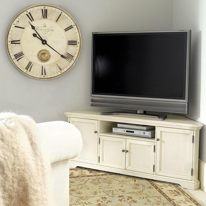 Media Stand Designs : Reston corner media cabinet ballard designs
