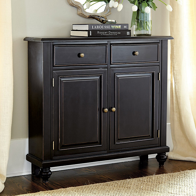 Martin 2 door console ballard designs for Foyer cabinet design