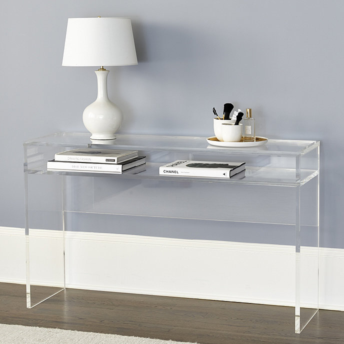 alissa acrylic console ballard designs. Black Bedroom Furniture Sets. Home Design Ideas