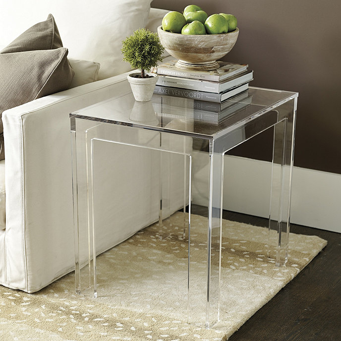 Felicity Acrylic Rectangular Side Table  Ballard Designs