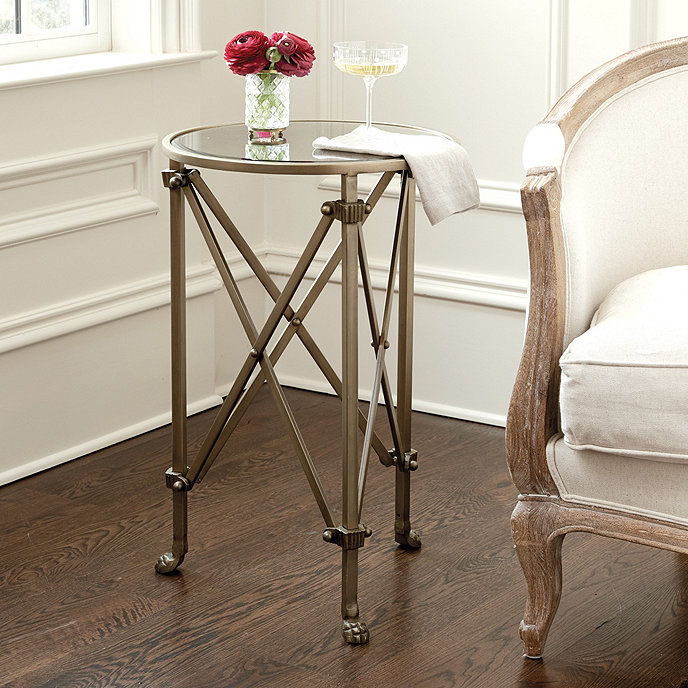 Olivia mirrored side table ballard designs - Antique side tables for living room ...