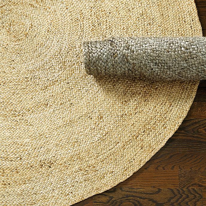 Round braided jute rug ballard designs for Ballard designs kitchen rugs