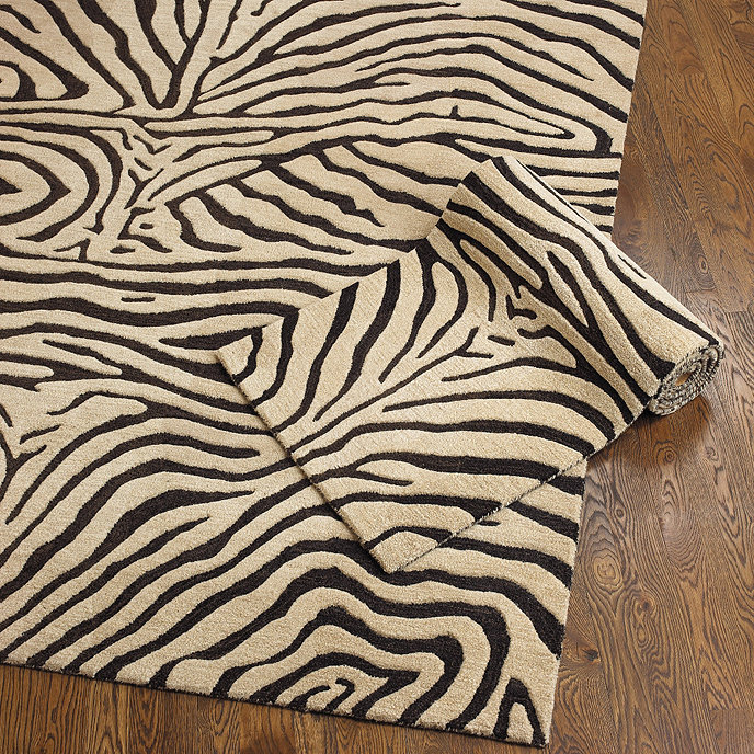 Graham And Green Zebra Rug: Ferrata Zebra Striped Rug