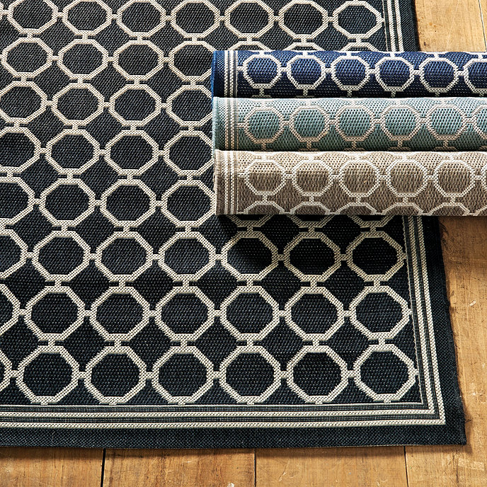 Chic Indoor Outdoor Stripe Rugs 6 Colors Available: Bermuda Indoor Outdoor Rug