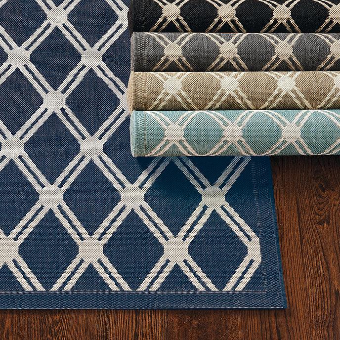 Tricia Trellis Indoor/Outdoor Rug   Ballard Designs