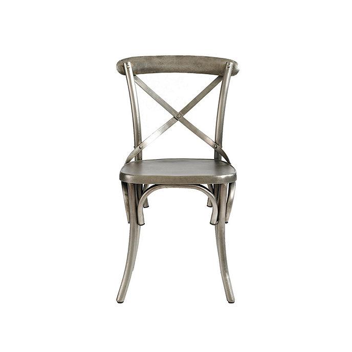 Set of 2 constance metal dining chairs ballard designs for Steel chair design