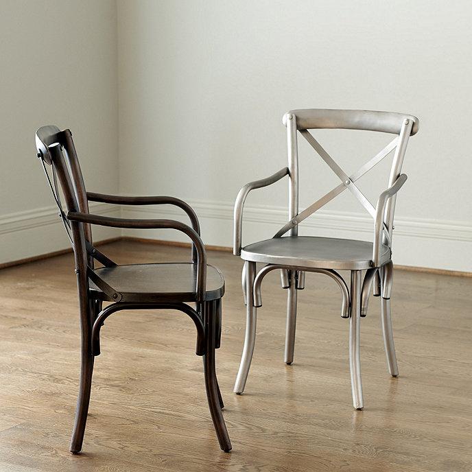 Ballard Design Kitchen Chairs: Constance Metal Arm Chairs - Set Of 2