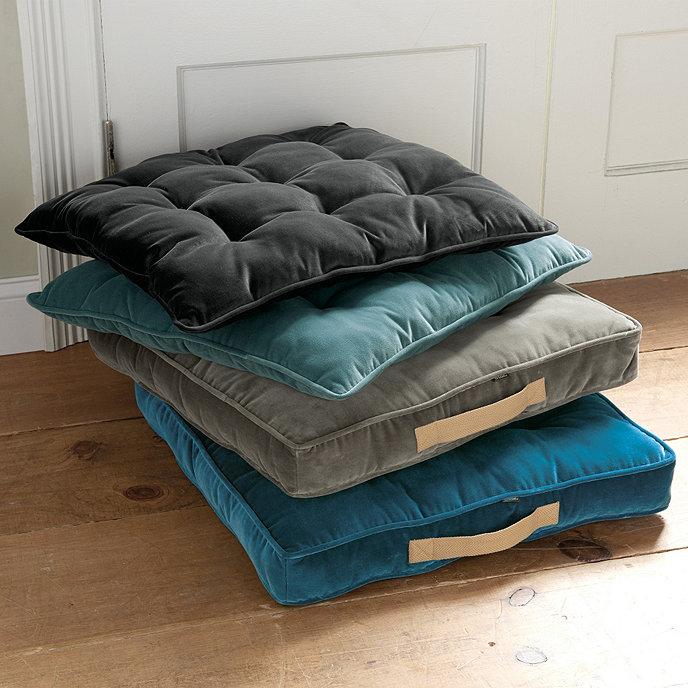 Floor Box Pillows : Pickford Tufted Floor Cushion Ballard Designs