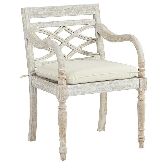 Ceylon Arm Chair with Cushion | Ballard Designs