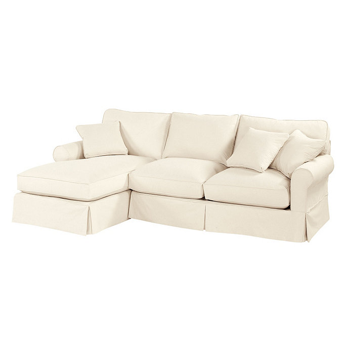 Baldwin 2 piece sectional left arm chaise and right for Ballard designs chaise