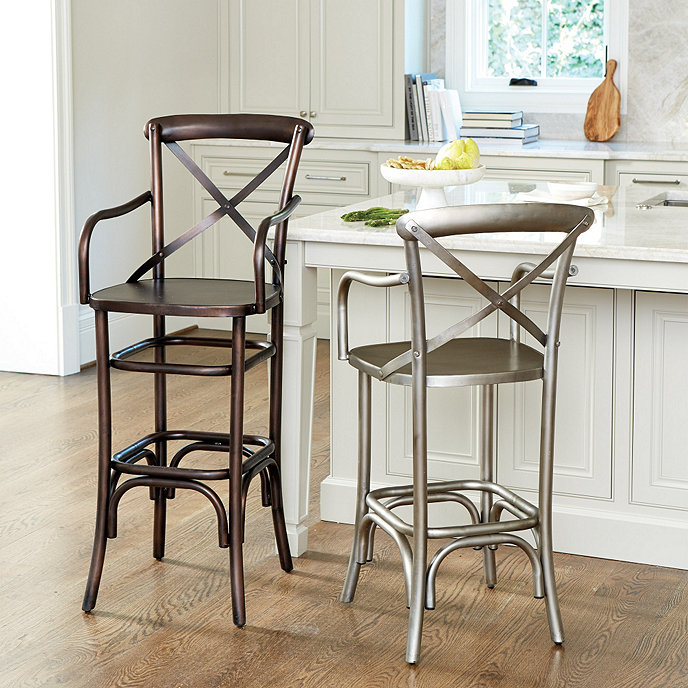 Constance Metal Counter Stool with Arms - Constance Metal Counter Stool With Arms Ballard Designs