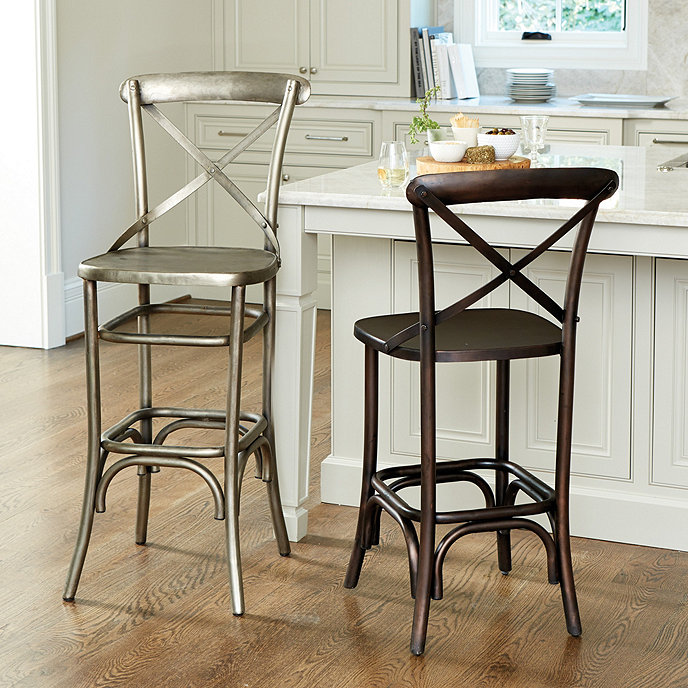 Ballard Design Kitchen Chairs: Constance Metal Stools