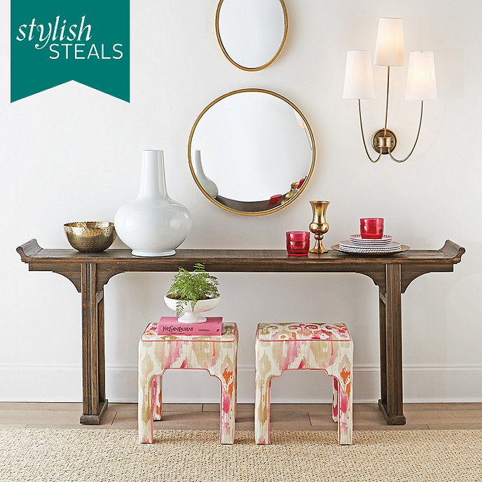 Ananda serving table rustic black serving table wood for Ballard furniture stores