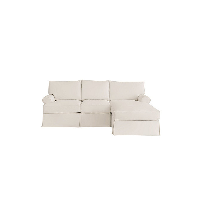 Davenport 2 piece sectional with right arm chaise for Slipcovers for sectional sofa with chaise