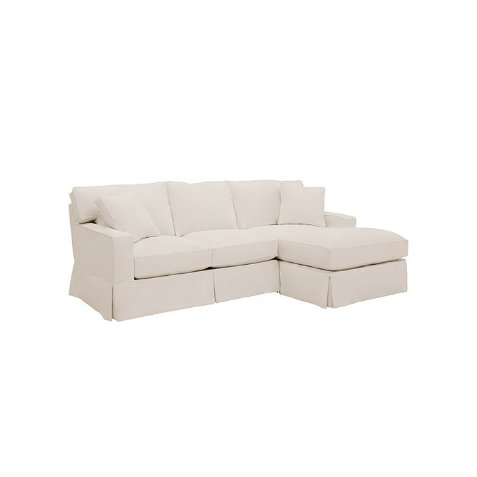 Graham 2 piece sectional with right arm chaise and left for Slipcovers for sectional sofa with chaise