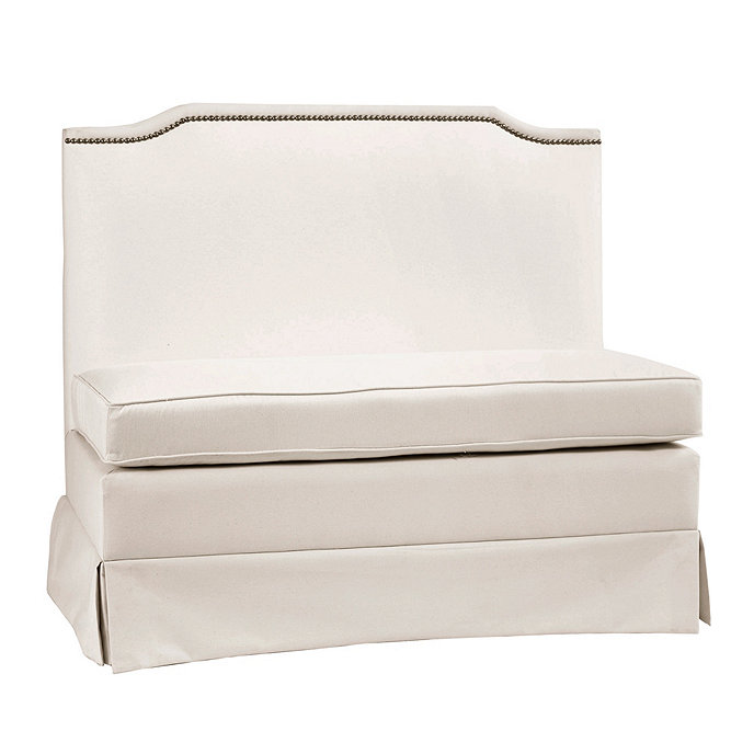 hampton upholstered 48 inch bench ballard designs