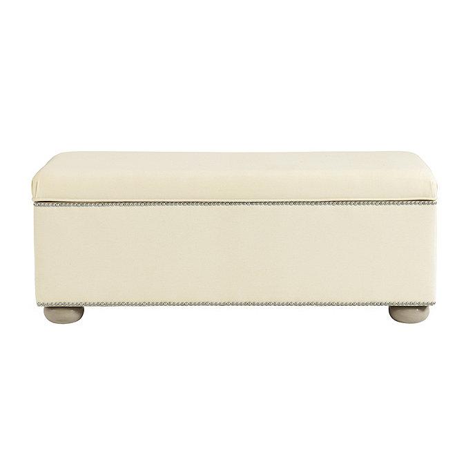 Amelia Storage Bench With Pewter Nailheads Ballard Designs