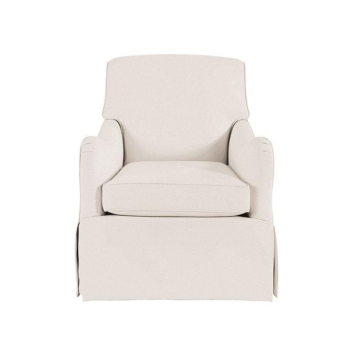 Elsie swivel glider club chair ballard designs for Chair designers names