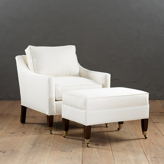Griffin Club Chair and Ottoman without Nailheads - Griffin Club Chair And Ottoman With Self Welts Ballard Designs