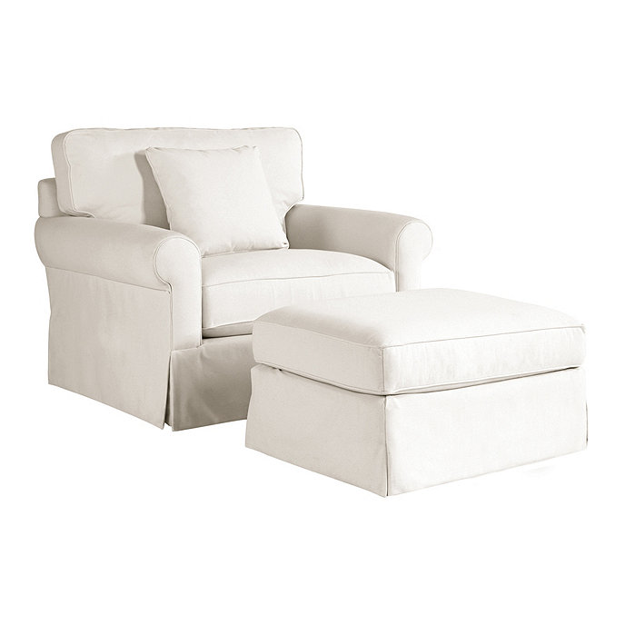 Baldwin upholstered club chair and ottoman ballard designs for Small club chairs upholstered