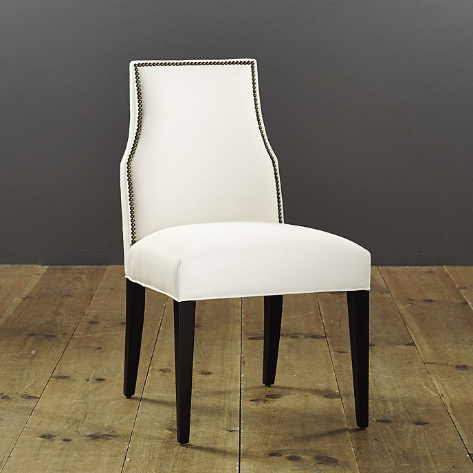 Mia Dining Side Chair With Brass Nailheads Ballard Designs