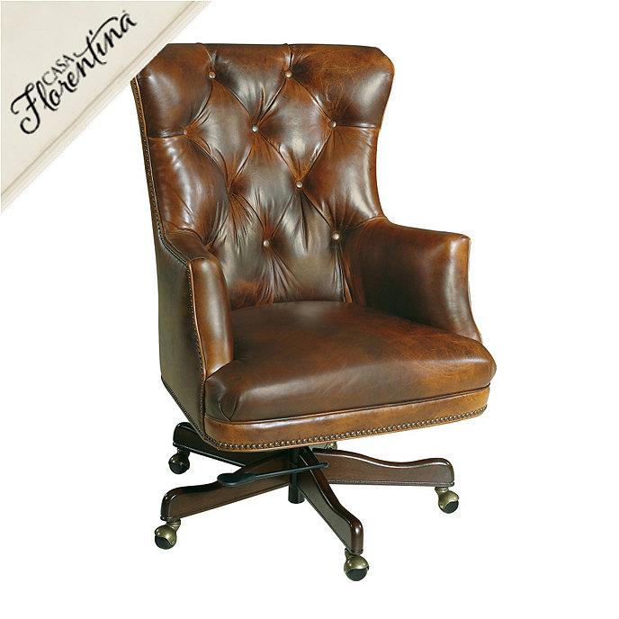 casa florentina enzo leather desk chair ballard designs