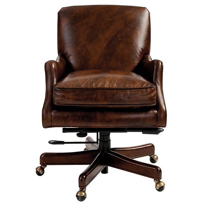 Leather Table Chairs: Rhodes Leather Desk Chair