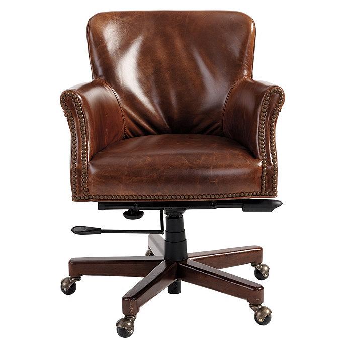 Pennington Leather Desk Chair Ballard Designs