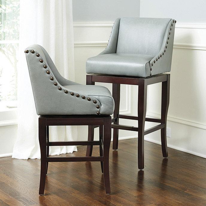 Marcello Leather Counter Stool Ballard Designs